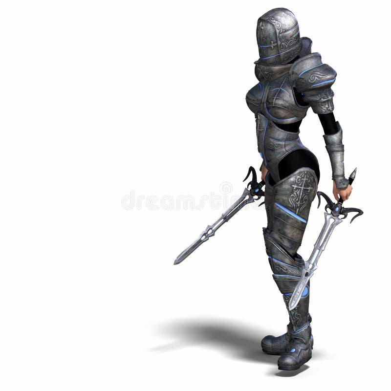 Female Fantasy Knight stock illustration