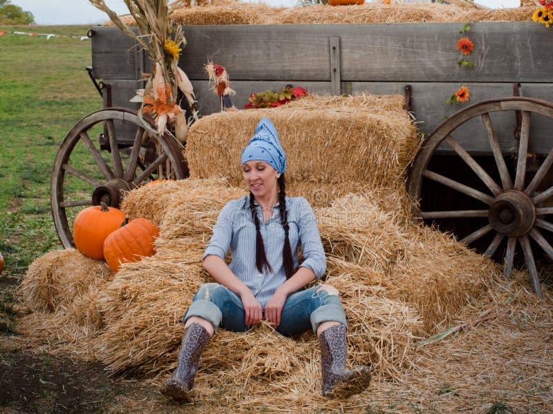 Download Female Farmer stock photo. Image of long, farmer, jeans - 21684042