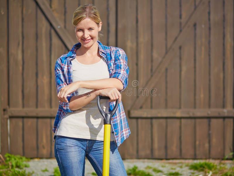 Female farmer stock image