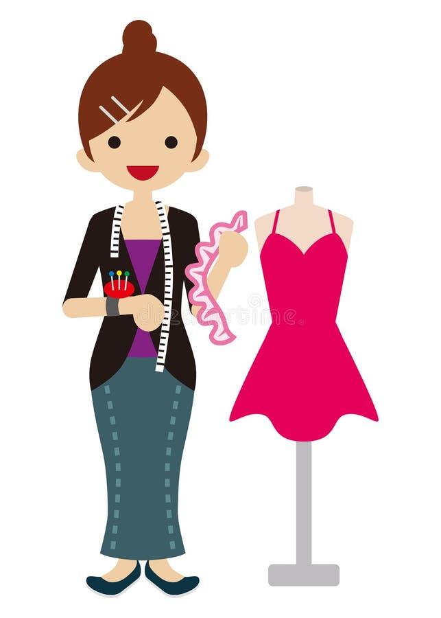 Female Fashion Designer Stock Vector Illustration Of