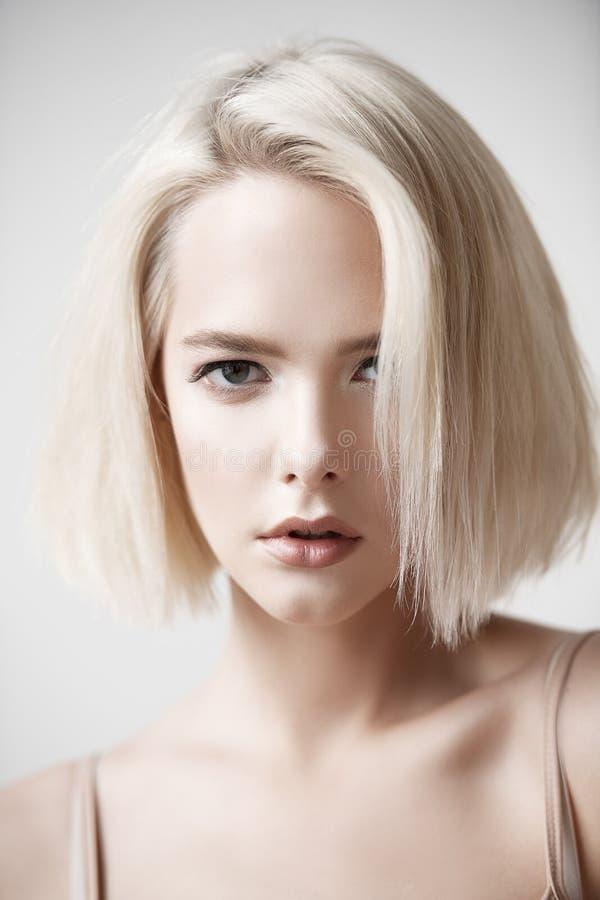 Female fashion haircut stock photos
