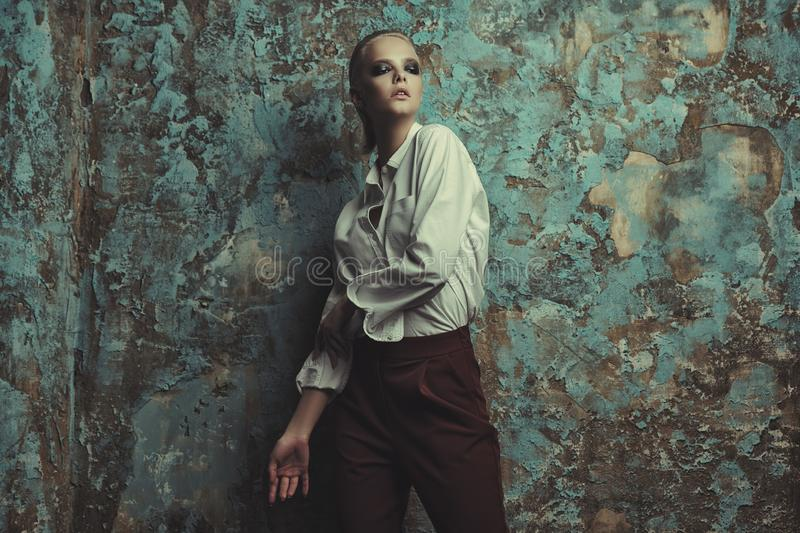 Female fashion model royalty free stock photos