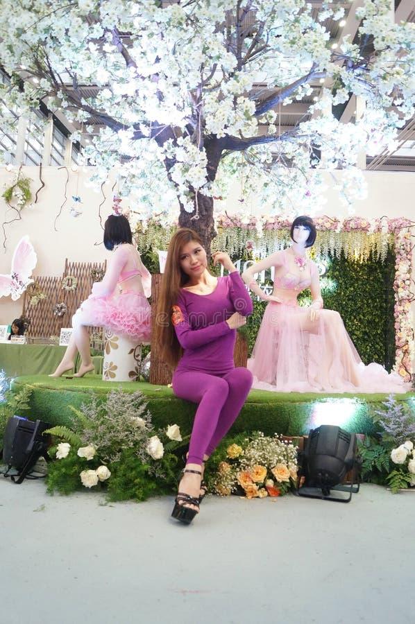 Female fashion models show. At the Shenzhen Convention Center, 2015 China (Shenzhen) international brand underwear exhibition royalty free stock photo