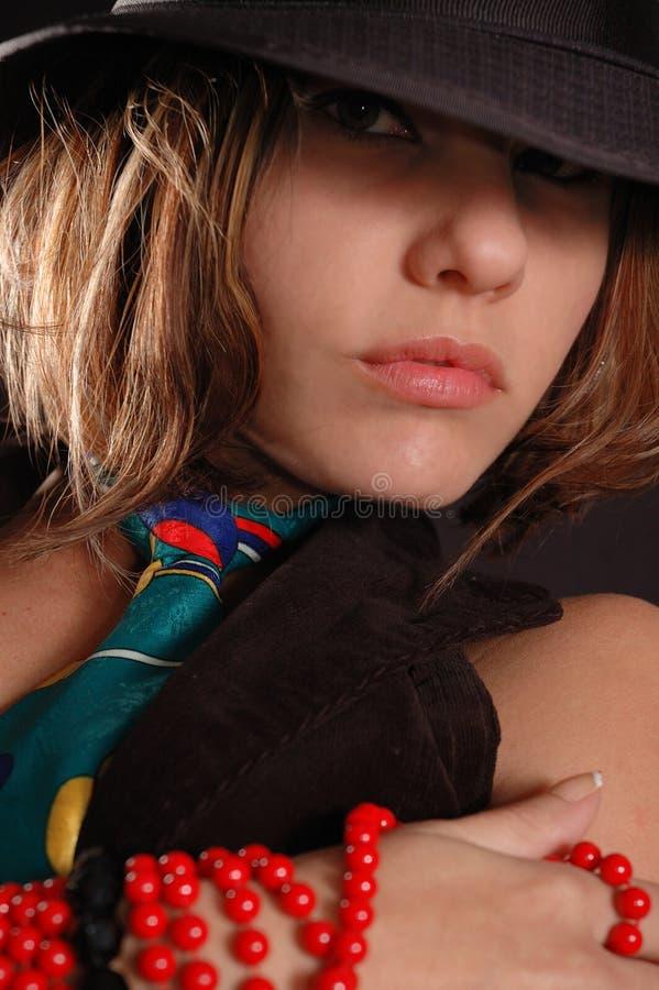 Female fashion portrait stock photos