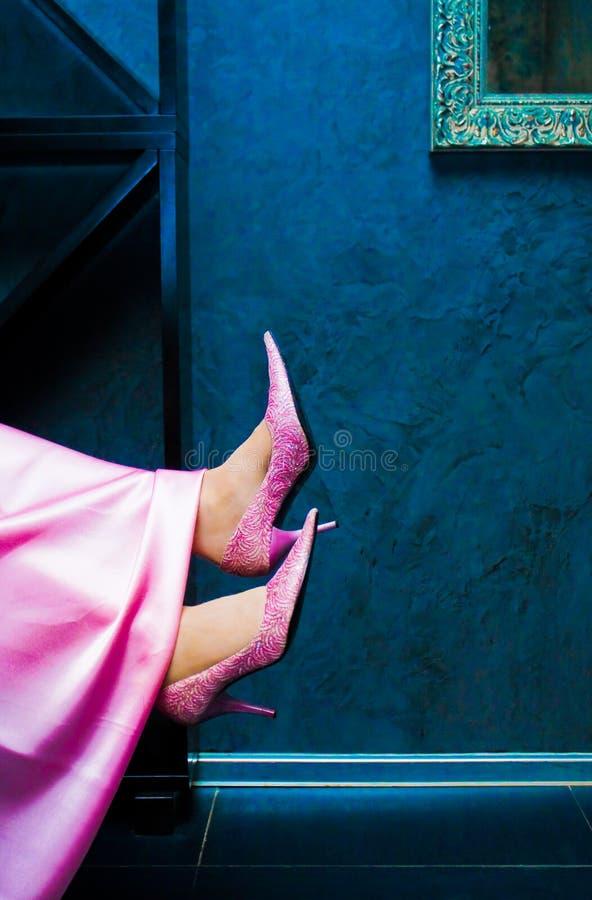 Download Female feet stock image. Image of shelf, dress, shoes - 12859119