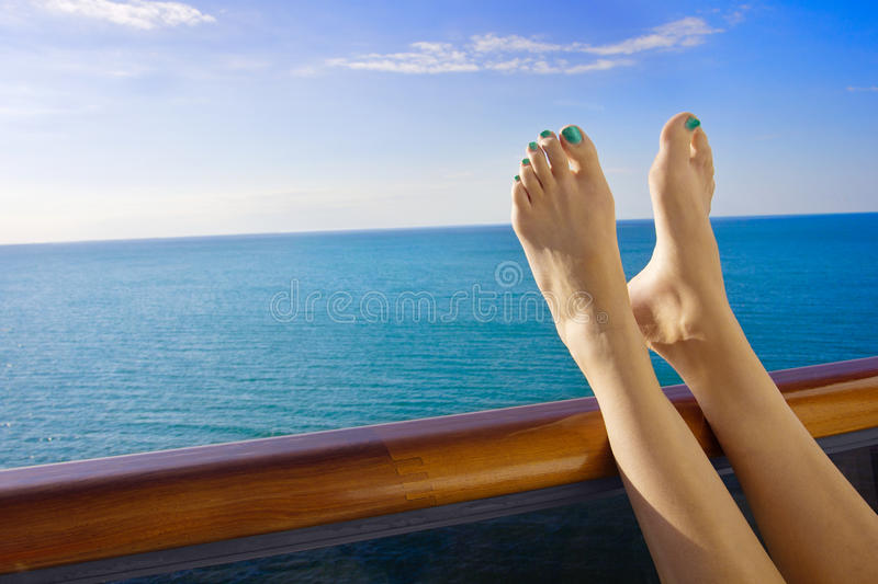 Download Relaxing Onboard A Cruise Ship Stock Photo - Image: 30310354