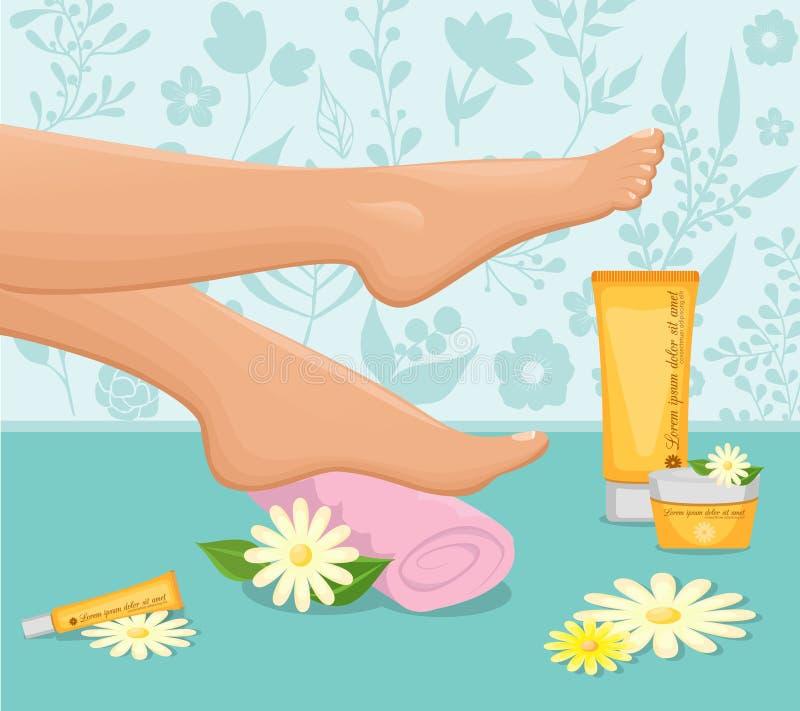 Female Feet Spa Concept royalty free illustration