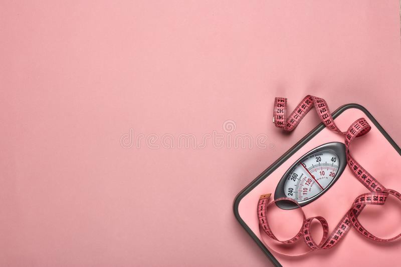 Healthy lifestyle concept. Slimming stock image
