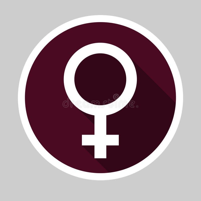 Female Flat Design Icon royalty free stock image