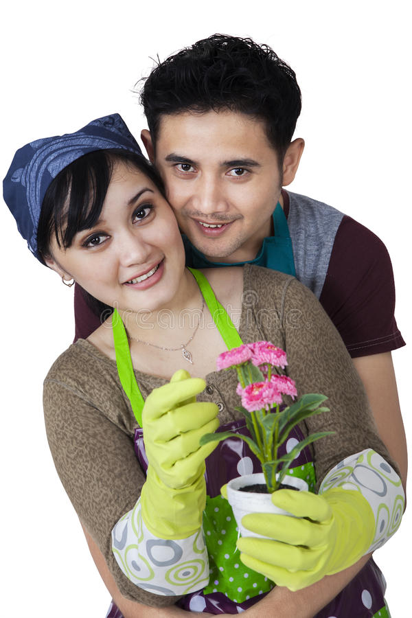 Download Female Florist With Her Husband Stock Image - Image: 36467655