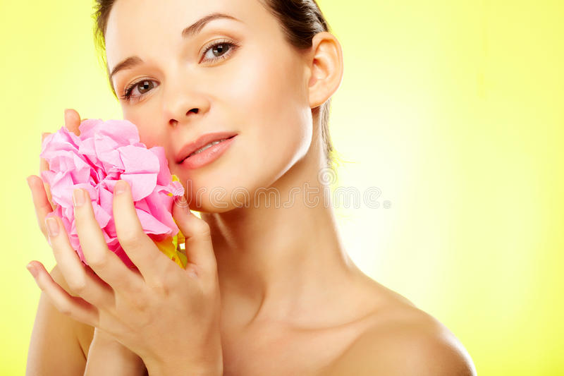 Download Female with flower stock image. Image of floral, lady - 20880551