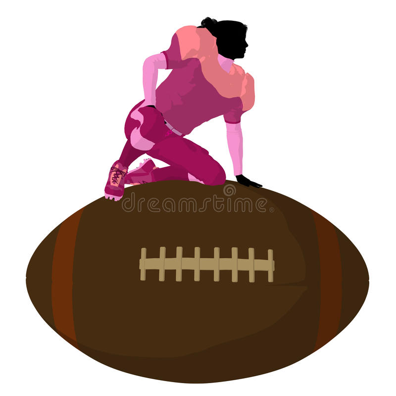Download Female Football Player Illustration Silhouette Stock Illustration - Image: 16427496