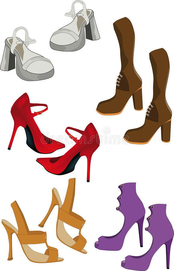 Download Female footwear stock vector. Illustration of glamour - 12157905