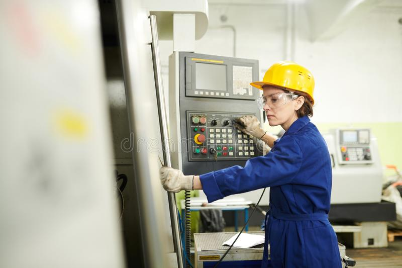 Female Foreman at Factory royalty free stock photo
