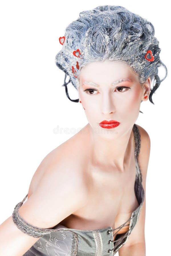 Female frozen portrait stock images