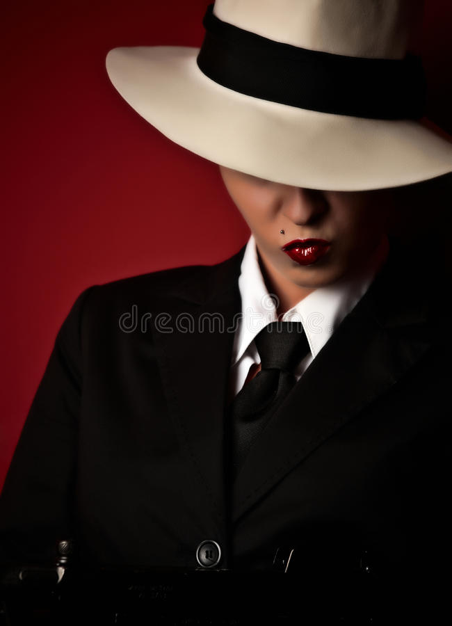 Female gangster royalty free stock photos