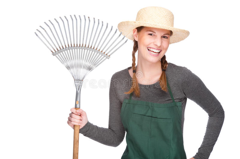 Download Female gardener stock image. Image of isolated, elegance - 13070701