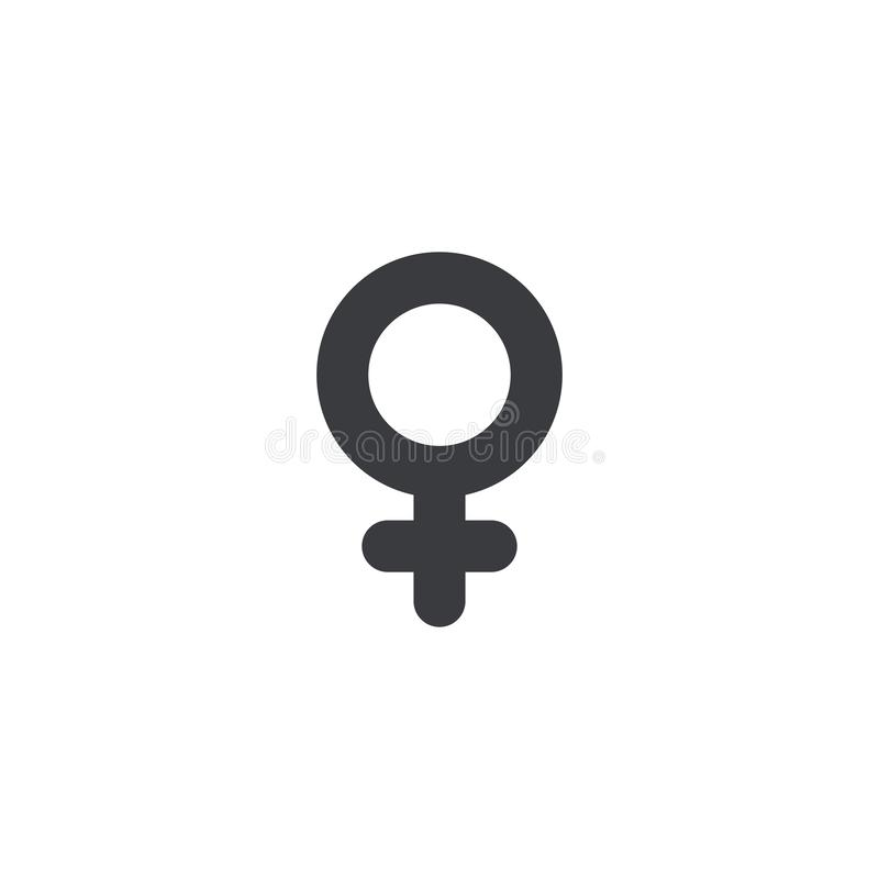 Female gender icon, Vector icon. Women symbol. Girl sign. Sex symbol. Toilet print stock illustration