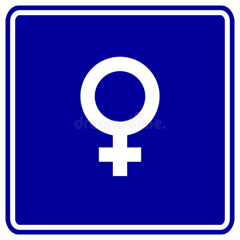 Female gender symbol vector sign stock illustration