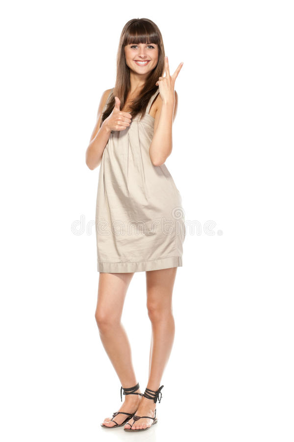 Download Female gesturing al right stock photo. Image of gesture - 20725158