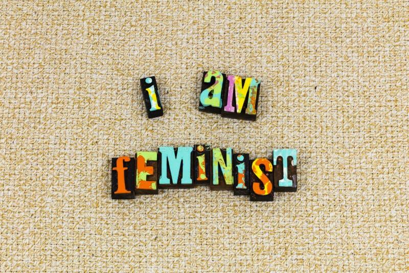 Feminist feminism female independent woman. Female girl power feminist feminism sign woman change world typography letterpress my body choice she needed hero stock image
