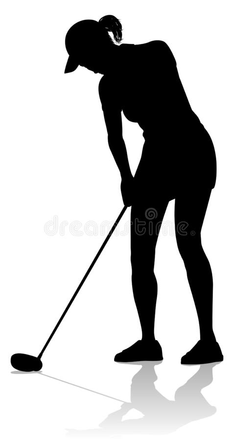 Golfer Golf Sports Person Silhouette stock illustration