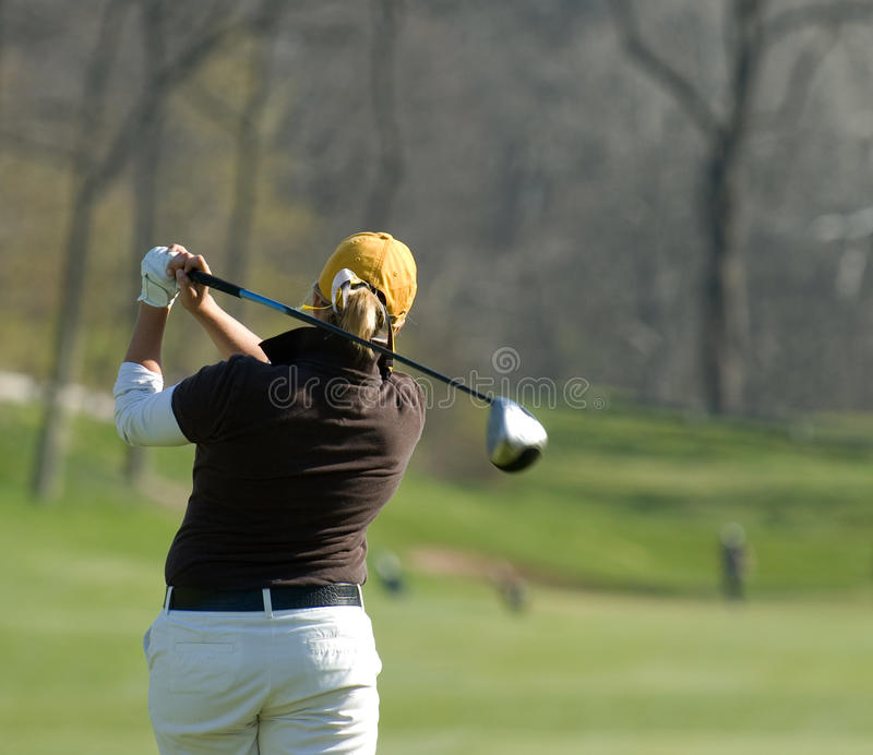 Female Golfer taken from behind royalty free stock photos