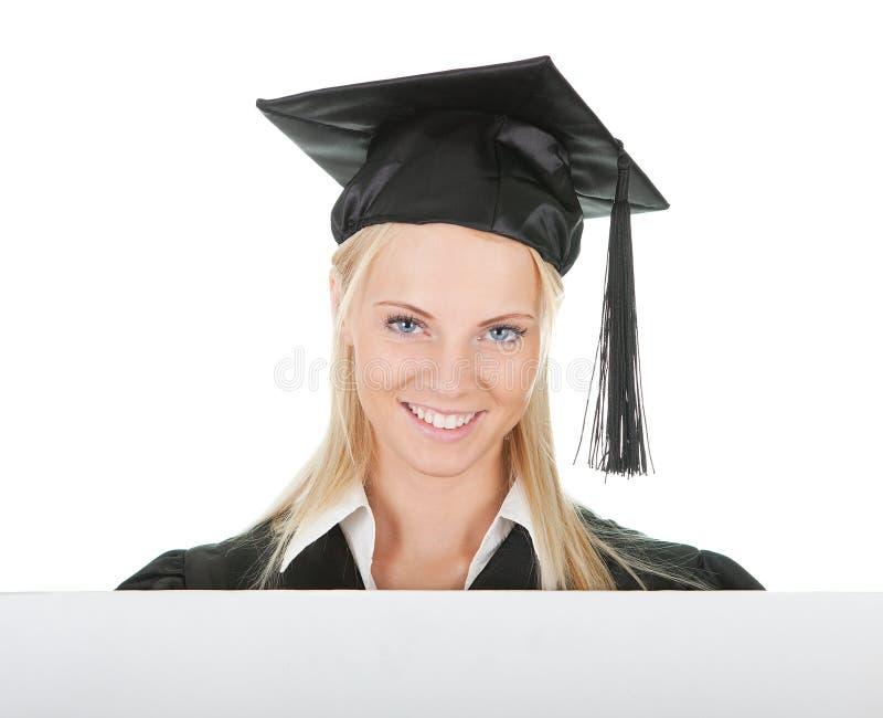 Download Female Graduate Student Presenting Empty Board Stock Image - Image: 23255677