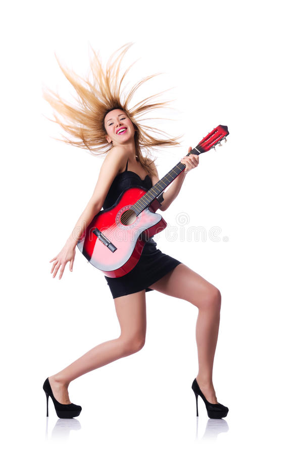Download Female guitar player stock image. Image of person, entertainment - 30095317