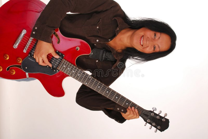 Female Guitarist royalty free stock photo