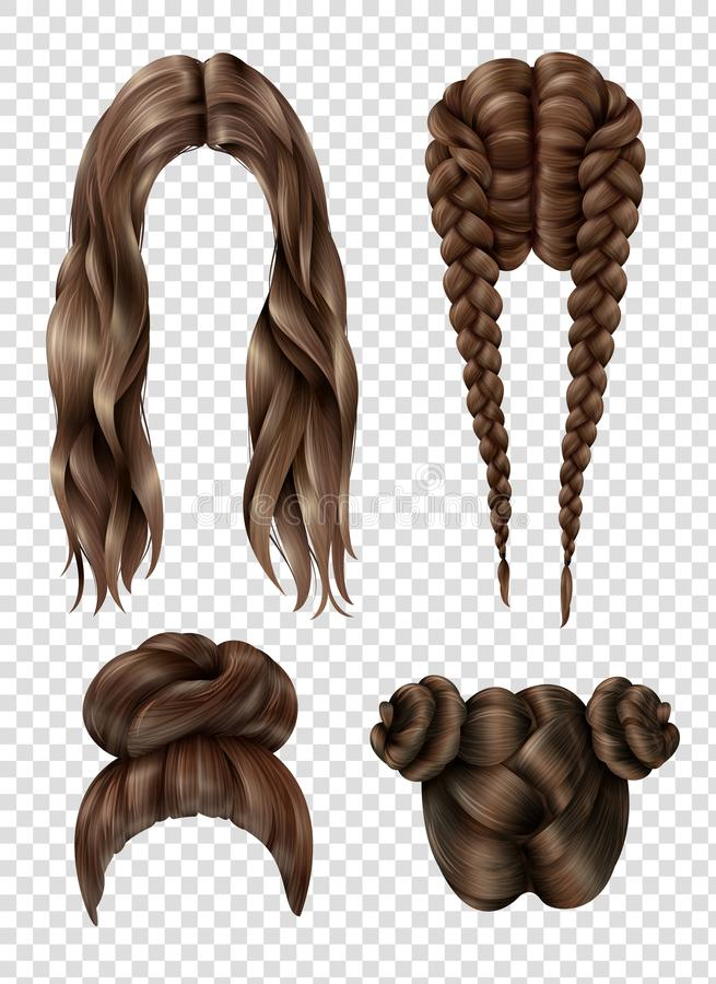 Female Hairstyles Set vector illustration