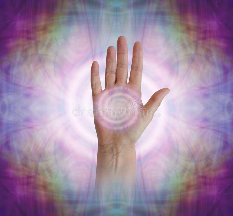 Palm Chakra with Pranic Vortex healing energy royalty free stock image