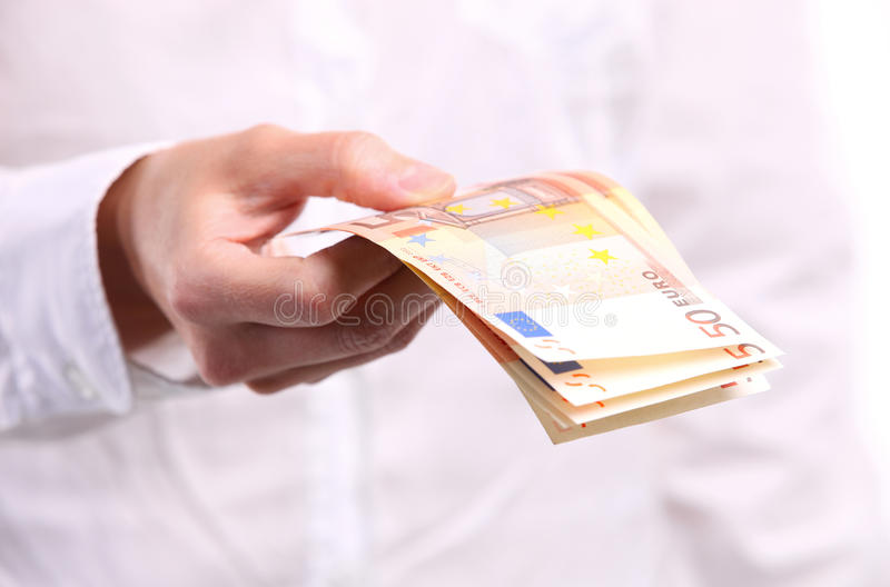 Download Female Hand Holding Fifty Euro Banknotes Stock Photo - Image: 25182820