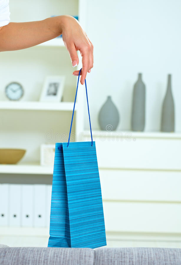 Download Female Hand Holding Shopping Bag Stock Photo - Image: 10088496