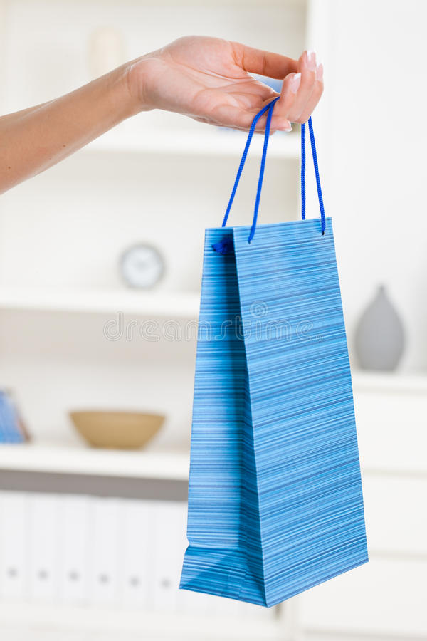 Download Female Hand Holding Shopping Bag Stock Photo - Image: 9730994
