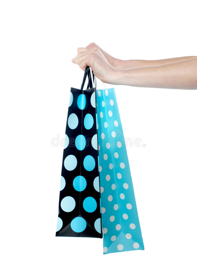 Download Female Hand Holding Shopping Bags Stock Image - Image: 24320125