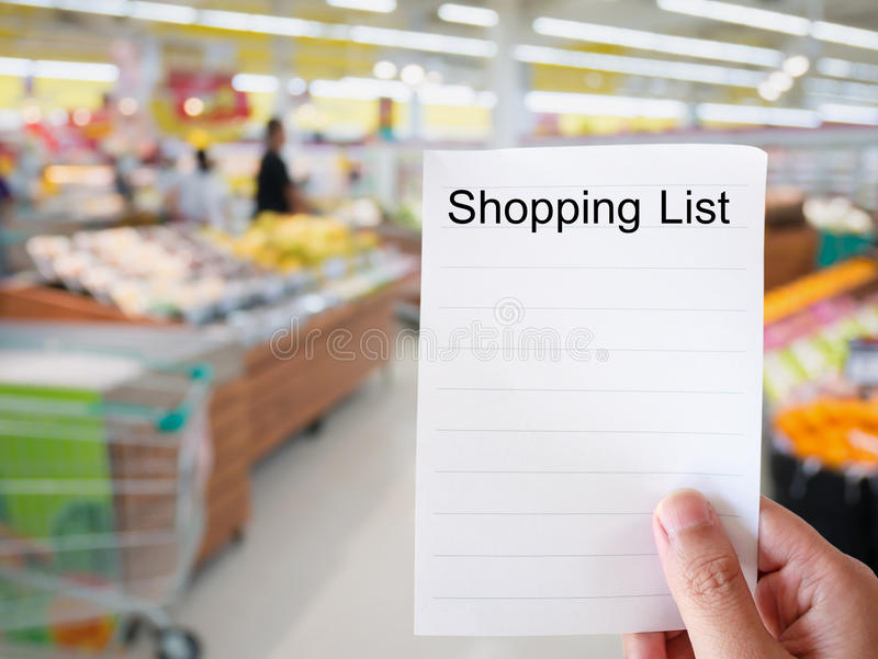 Grocery Store Shopping List