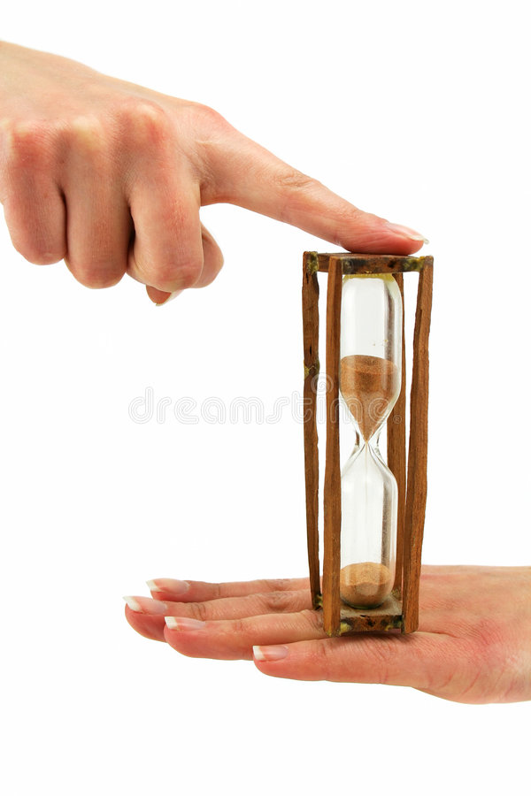 Download Female Hand Holds Hourglass Stock Image - Image: 7505173