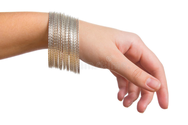 Female hand with jewelry royalty free stock photos