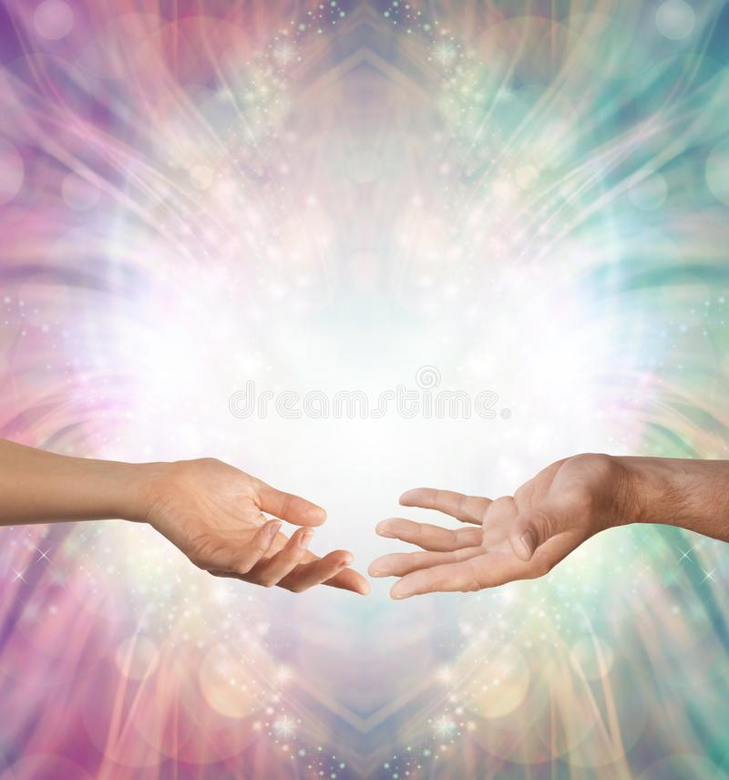 Male and Female energy merging royalty free stock image
