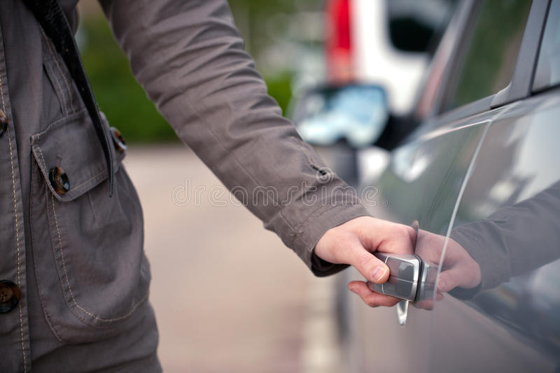 Download Female Hand Opening A Car Door Stock Photo - Image: 20895722