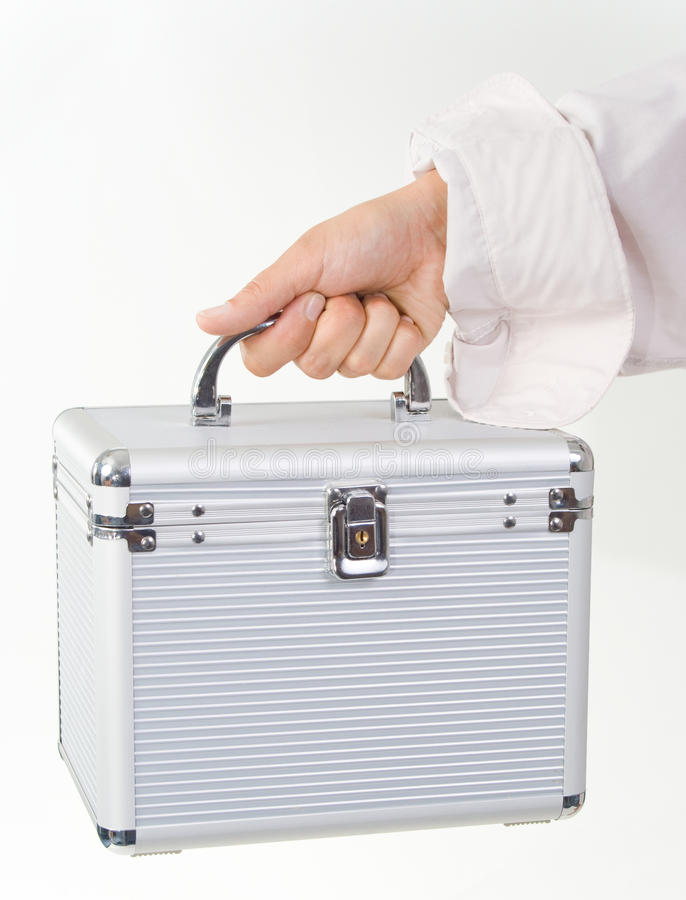 Download Female Hand With A Plastic Case Stock Photo - Image: 9689552