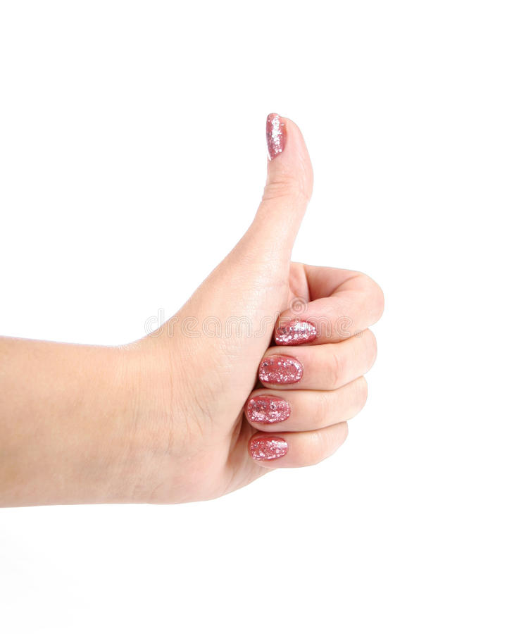 Download Female Hand Shows Gesture Ok Stock Photo - Image: 22819916