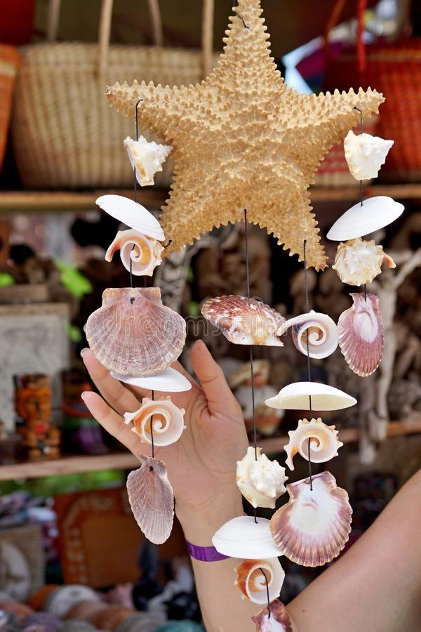 Download The Female Hand Touches Souvenirs Stock Image - Image: 31826875