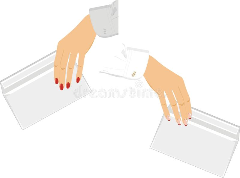 Download Female Hands With Envelopes Stock Vector - Image: 25291626