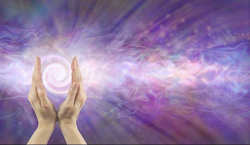 Channelling Purple Vortex healing energy royalty free stock image