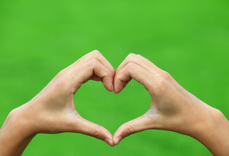 Female Hands In The Form Of Heart Royalty Free Stock Photos