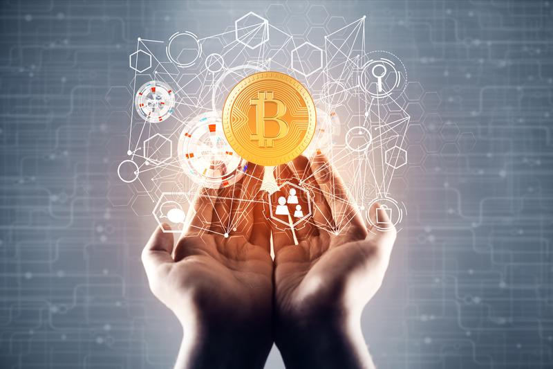 Cryptocurrency concept stock photo
