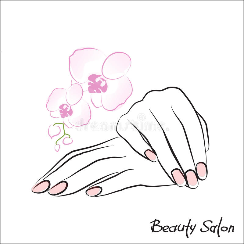Female hands manicure stock illustration
