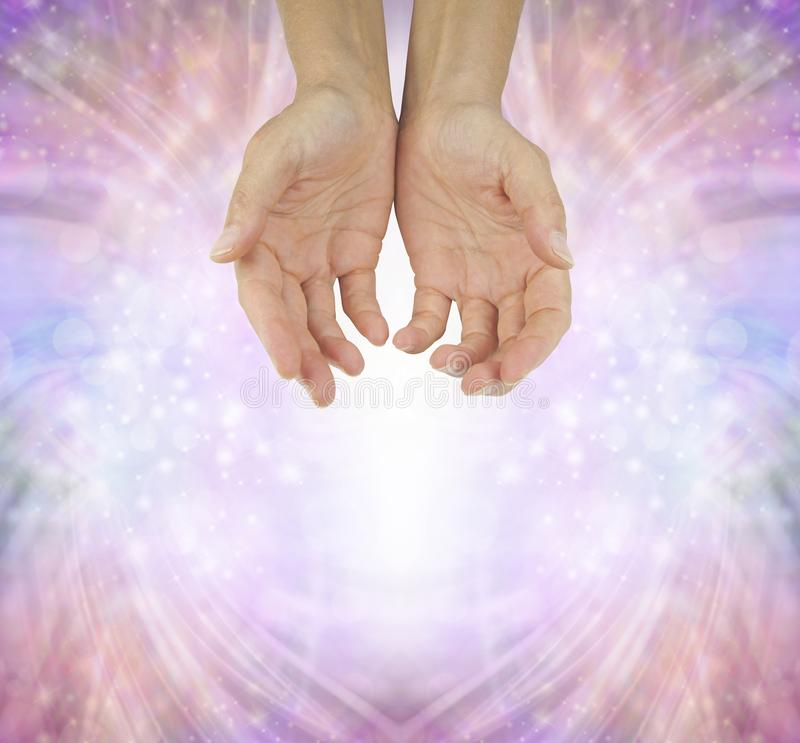 Hands of a Humble Healer royalty free stock photos
